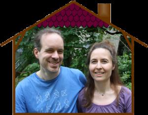 Bild: Foto von Andreas und Yvonne in einem schematischen Haus
